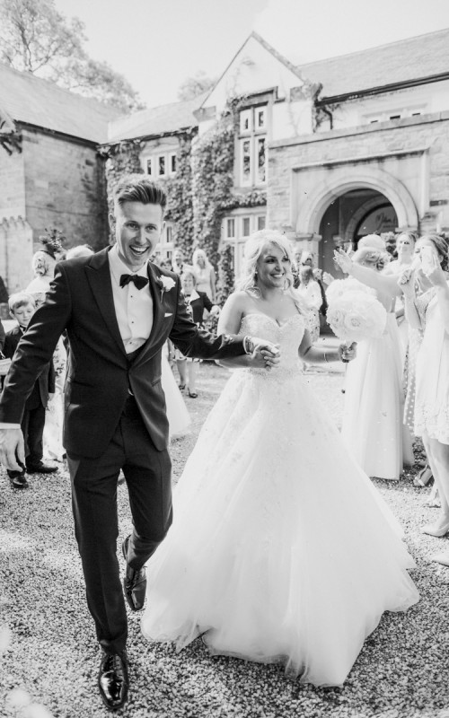 Mitton Hall Wedding Photography with Catt and James