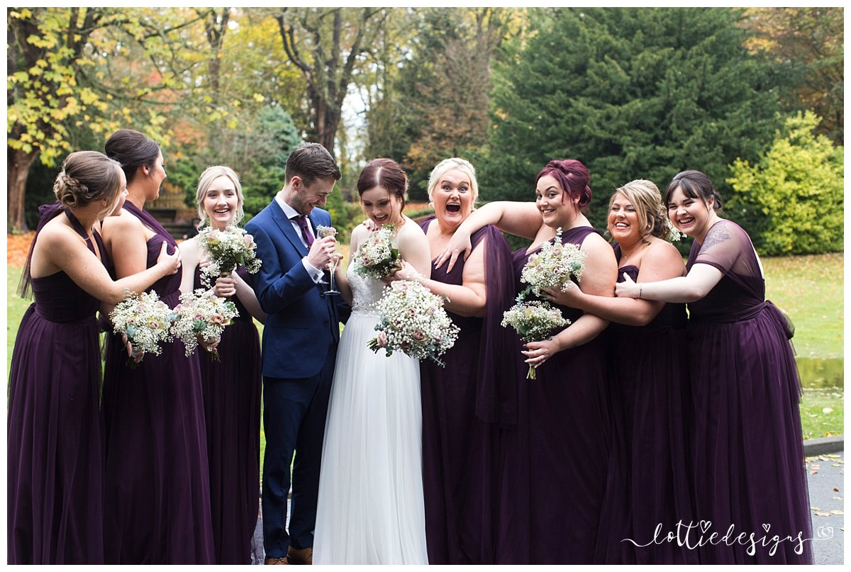 Samlesbury hall wedding photography with jasmine and craig silly bridesmaids photo ombrellifo Choice Image